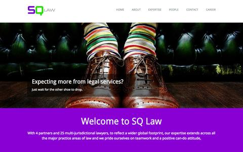 Screenshot of Home Page sqlawoffices.com - SQ Law EEIG | Home - captured Oct. 3, 2014