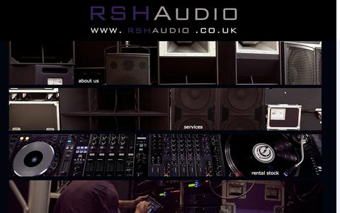 Screenshot of Home Page rshaudio.co.uk - RSH Audio Ltd - captured Oct. 6, 2014