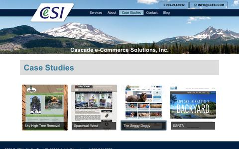 Screenshot of Case Studies Page 4cesi.com - Case Studies - Cascade e-Commerce Solutions Inc - captured July 17, 2017