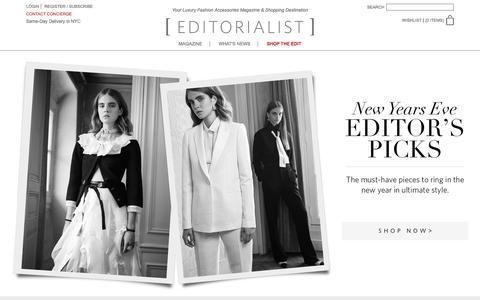 Screenshot of Home Page editorialist.com - Editorialist | Luxury Fashion Accessories Magazine & Online Store - captured Dec. 29, 2015