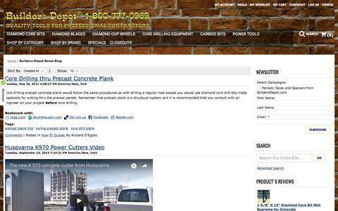 Screenshot of Blog buildersdepot.com - Builders Depot News Blog - captured Oct. 11, 2017
