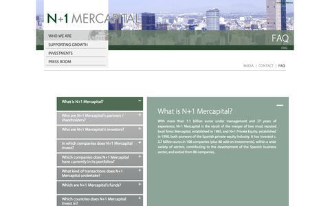 Screenshot of FAQ Page mercapital.com - FAQ - captured Oct. 6, 2014