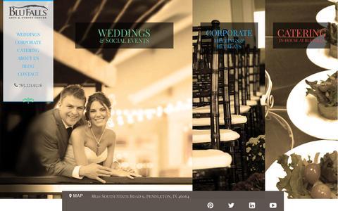 Screenshot of Home Page blufalls.com - Blu Falls > Home - captured Jan. 24, 2015