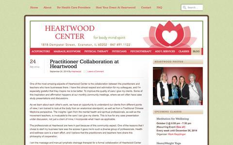 Screenshot of Blog heartwoodcenter.com - Blog | Heartwood Center - captured Oct. 2, 2014