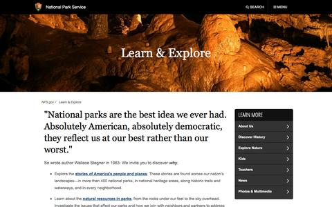 Learn & Explore (U.S. National Park Service)