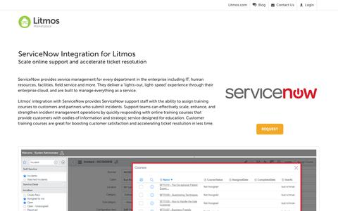 ServiceNow - Litmos