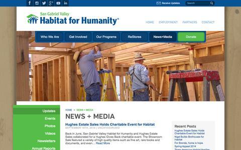 Screenshot of Press Page sgvhabitat.org - News - San Gabriel Valley Habitat for Humanity - captured Oct. 4, 2014