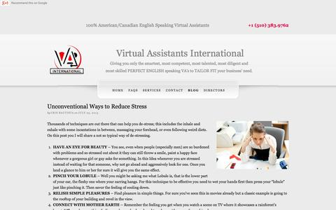 Screenshot of Blog vaintl.net - Hire The Best Virtual Assistant | VA International - captured Oct. 26, 2014