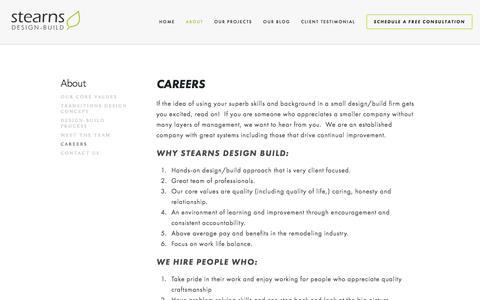 Screenshot of Jobs Page stearnsdesignbuild.com - Careers — Stearns Design Build - captured Dec. 12, 2016