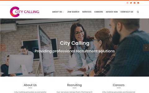 Screenshot of Home Page citycalling.com captured Dec. 8, 2018