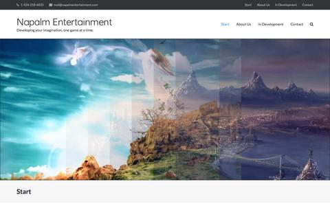 Screenshot of Home Page napalmentertainment.com - Start - Napalm Entertainment - captured Aug. 17, 2016