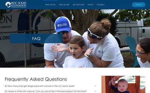 Screenshot of FAQ Page rocsolidfoundation.org - FAQ   Roc Solid Foundation - captured Sept. 21, 2018