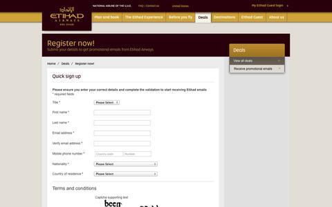Screenshot of Signup Page etihad.com captured Sept. 18, 2014