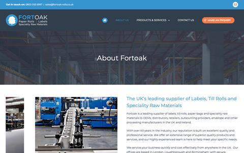 Screenshot of About Page fortoak.co.uk - About Us - Fortoak - captured Nov. 14, 2018