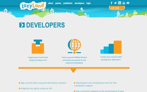 Screenshot of Developers Page lazyland.net - Developers - lazyland.net - captured May 16, 2017