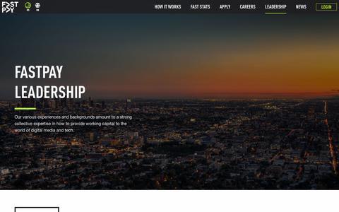 Screenshot of Team Page gofastpay.com - Leadership – FastPay - captured July 24, 2017