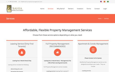 Screenshot of Services Page miami-propertymanagement.com - Miami Property Management Services - captured July 2, 2018