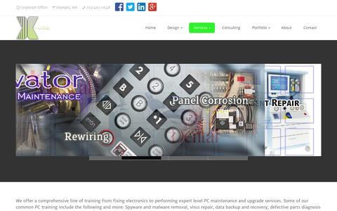 Screenshot of Services Page xmoddz.com - Game Console Repair Services | Electronic Repair Services - captured Sept. 30, 2014