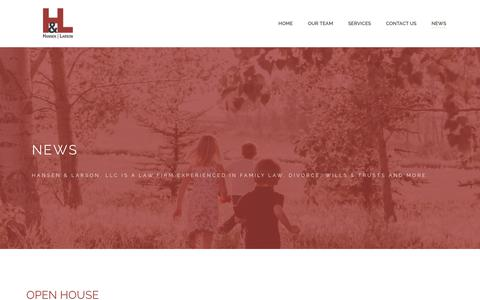 Screenshot of Press Page hansen-larson.com - News - Hansen & Larson, LLC - captured Sept. 24, 2018