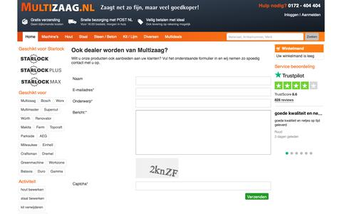 Screenshot of Signup Page multizaag.nl - multizaag.nl - captured Oct. 18, 2018