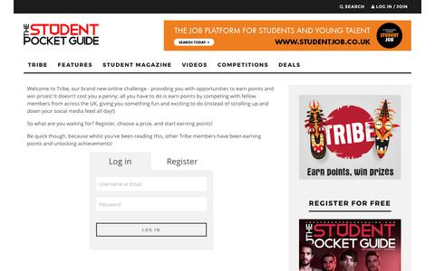 Screenshot of Login Page thestudentpocketguide.com - The Student Pocket Guide - Login - captured June 22, 2017