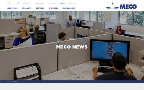 Screenshot of Press Page meco.com - MECO News, Purification Plant Technologies | MECO - captured May 26, 2017