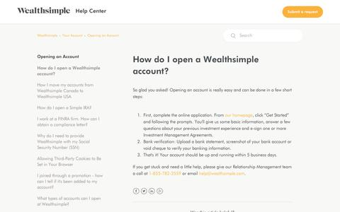 How do I open a Wealthsimple account? – Wealthsimple