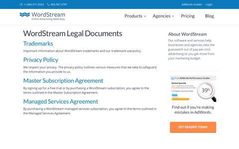 WordStream Legal Documents