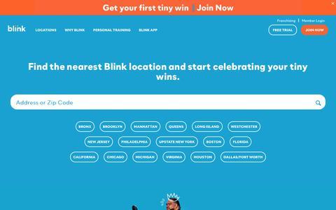 Screenshot of Home Page blinkfitness.com - Blink Fitness Gym | Local Fitness Centers - captured Dec. 28, 2019