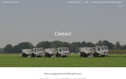 Screenshot of Contact Page wordpress.com - Contact – STAR Geophysics Inc - captured Nov. 18, 2016