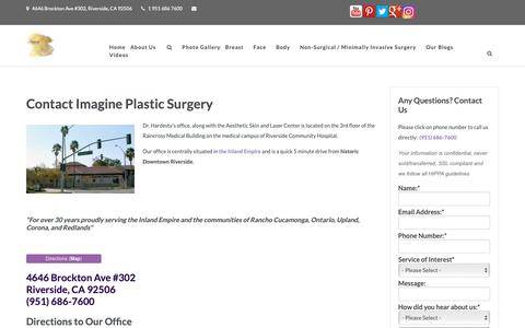 Screenshot of Contact Page Maps & Directions Page imagineplasticsurgery.com - Contact Dr. Hardesty   Imagine Plastic Surgery - captured Nov. 6, 2018