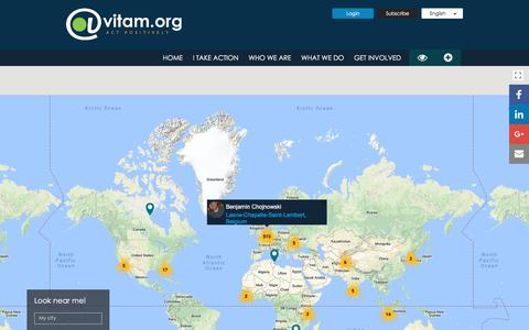 Screenshot of Maps & Directions Page vitam.org - map - @Vitam.org Public Benefit Foundation - captured Oct. 19, 2017