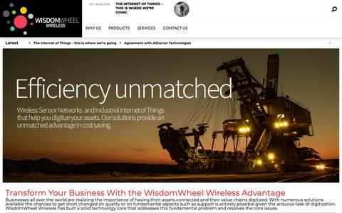 Screenshot of Home Page wisdom-wheel.com - WisdomWheel Wireless – Connecting and Digitizing the world efficiently and economically - captured Oct. 20, 2018