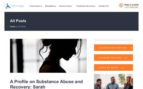 Screenshot of Blog interventionservicesinc.com - Intervention Services USA - captured Dec. 5, 2019