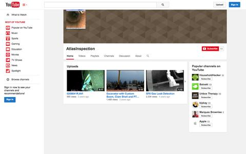 Screenshot of YouTube Page youtube.com - AtlasInspection  - YouTube - captured Oct. 23, 2014