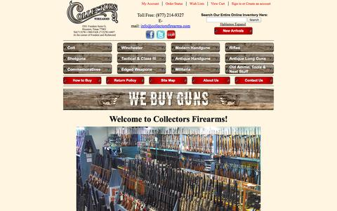 Screenshot of Home Page collectorsfirearms.com - Collectors Firearms - captured Sept. 19, 2014