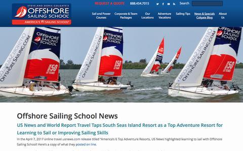 Screenshot of Press Page offshoresailing.com - Offshore Sailing News   Sailboat News   Latest Sailing News - captured June 12, 2017