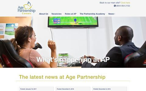 Screenshot of Press Page agepartnership.co.uk - The latest news at Age Partnership - Age Partnership Careers - captured May 29, 2017