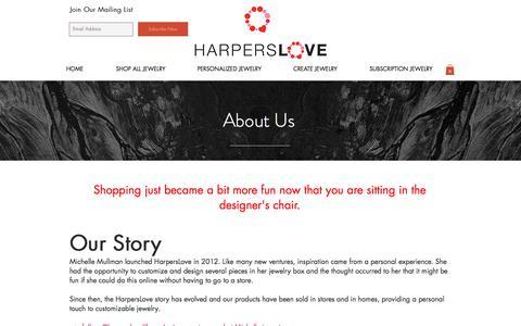 Screenshot of About Page harperslove.com - Michelle Mullman I HarpersLove - captured July 16, 2018