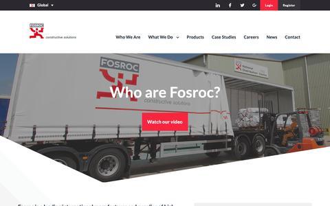 Screenshot of About Page fosroc.com - International Construction Services & Materials | Fosroc - captured Oct. 10, 2018