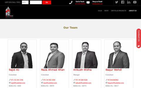 Screenshot of Team Page uzdubai.com - UZ-Dubai - captured Oct. 19, 2017