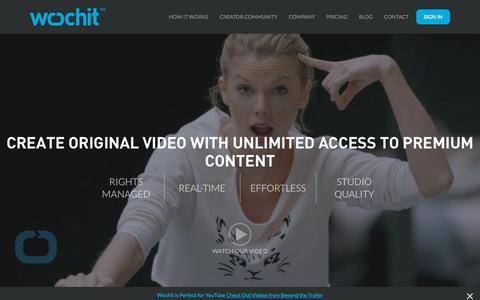 Screenshot of Home Page wochit.com - wochit   Online Video Creation Platform - captured Oct. 1, 2015