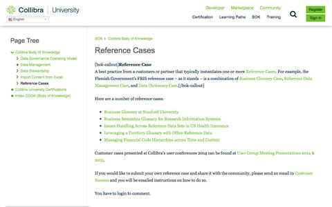 Screenshot of Case Studies Page collibra.com - Reference Cases – Collibra University - captured Feb. 12, 2020