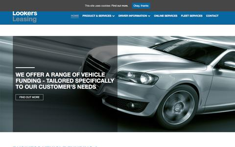 Screenshot of Home Page lookersleasing.co.uk - Business Car Leasing Services : Lookers Leasing - captured Sept. 8, 2017
