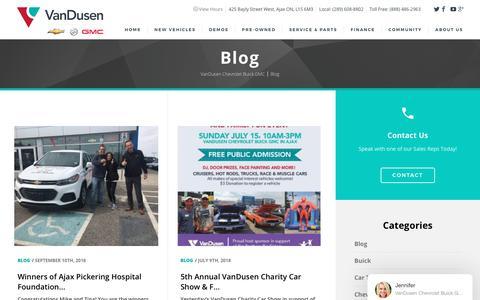 Screenshot of Blog vandusengm.com - Blog - VanDusen Chevrolet Buick GMC - captured Oct. 5, 2018