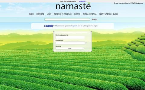 Screenshot of Login Page maste.es - Namasté - Tienda de té en Elda y Petrer - Tienda esotérica en Elda y Petrer - captured Feb. 17, 2016
