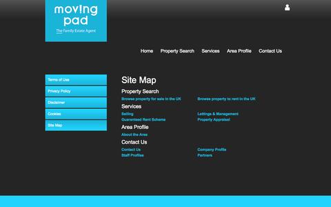 Screenshot of Site Map Page movingpad.com - Moving Pad Estate Agents in Barking and Dagenham - Property For Sale and Rent - captured Oct. 7, 2014