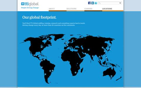 Screenshot of Contact Page Locations Page tti-global.com - TTi Global » Global Contacts / Global Locations - captured Oct. 26, 2014