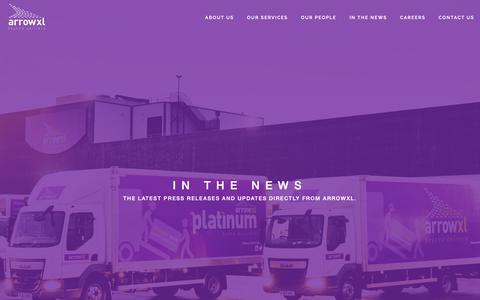 Screenshot of Press Page arrowxl.co.uk - In The News - ArrowXL 2-Person Home Delivery - captured Dec. 9, 2018