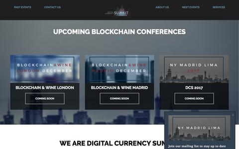Screenshot of Home Page digitalcurrencysumm.it - Digital Currency Summit – Woldwide conferences about Blockchain and cryptocurrencies - captured Nov. 24, 2016